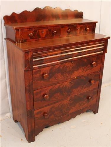 Flame mahogany Empire 6 drawer chest - 3