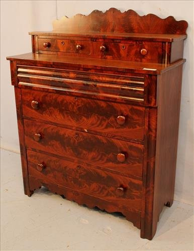 Flame mahogany Empire 6 drawer chest - 4