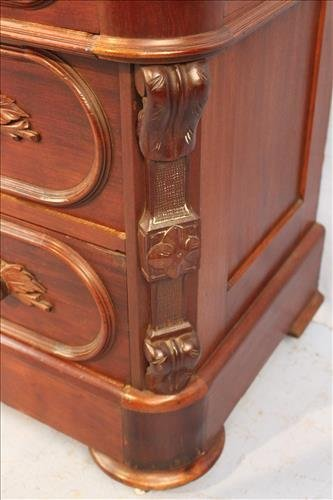 Rosewood French curio with glass shelves - 4