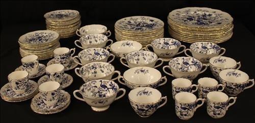 77 piece Coalpart china, Cairo pattern