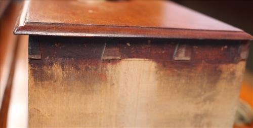 Period cherry 6 drawer high boy chest - 3