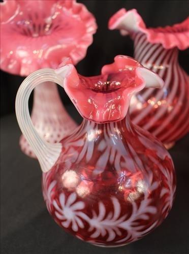 5 pieces pink Fenton art glass - 2