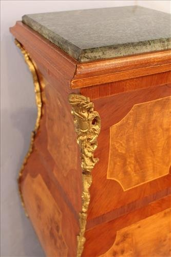 French pedestal with bronze accents and marble top - 2