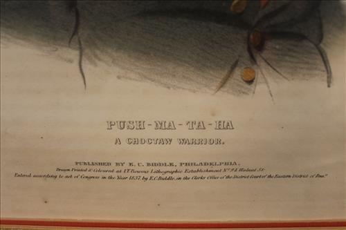 Hand colored lithograph of Push-ma-ta-ha - 3