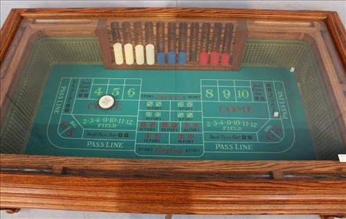 Craps table in design of a coffee table with glass - 2
