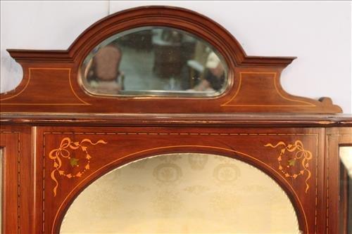 French mahogany inlay curio cabinet - 2
