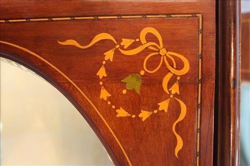 French mahogany inlay curio cabinet - 3