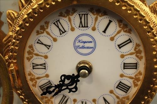 Porcelain figural contemporary clock - 2