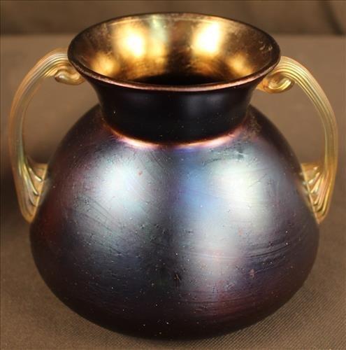 2 piece art glass vase, possibly Lotz - 2