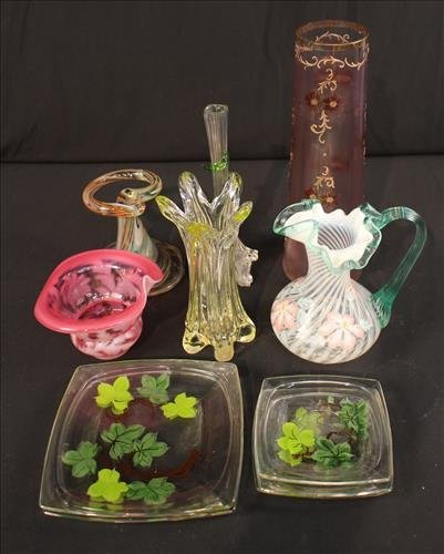 11 pieces of art glass