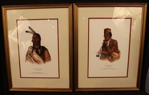 Pair Indian Lithographs entered into congress 1836