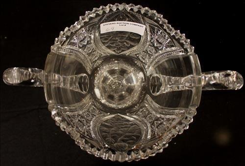 Brilliant cut glass trophy vase, 13 in. T, 13 in. H-H - 3