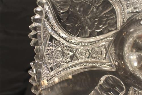 Brilliant cut glass trophy vase, 13 in. T, 13 in. H-H - 4