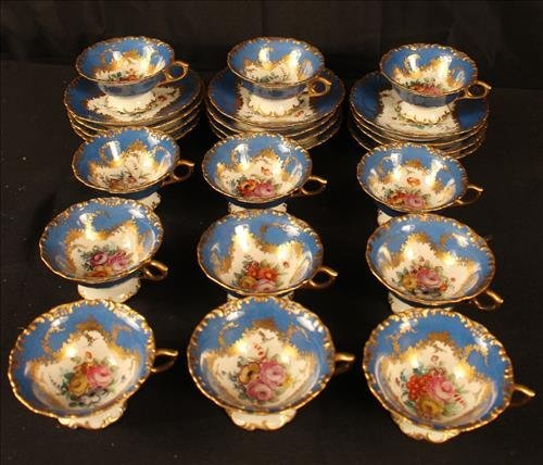 24 piece Sevres dessert set with coffee cups