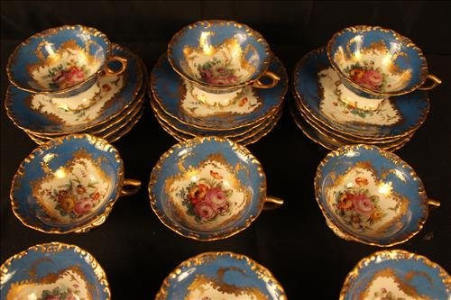 24 piece Sevres dessert set with coffee cups - 2