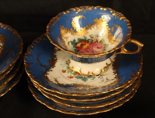 24 piece Sevres dessert set with coffee cups - 4