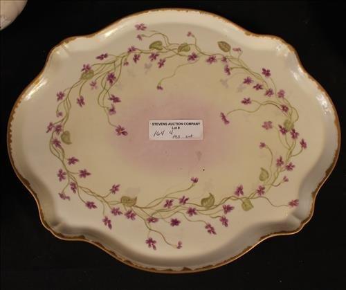 4 piece set china, porcelain tea set signed - 3