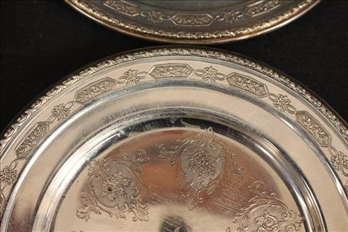 2 sets of 6 sterling silver serving trays - 3