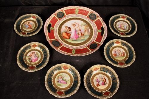 7 pieces Austrian china with Beehive mark