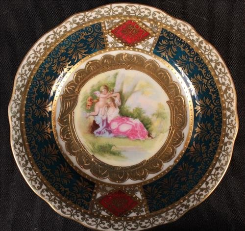 7 pieces Austrian china with Beehive mark - 3