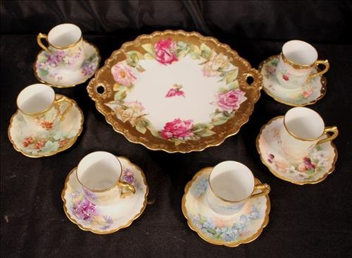 13 piece miscellaneous hand painted Limoges items