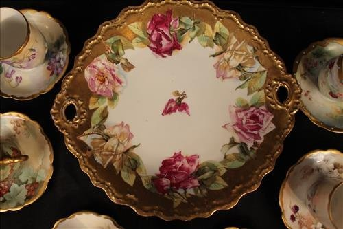 13 piece miscellaneous hand painted Limoges items - 2