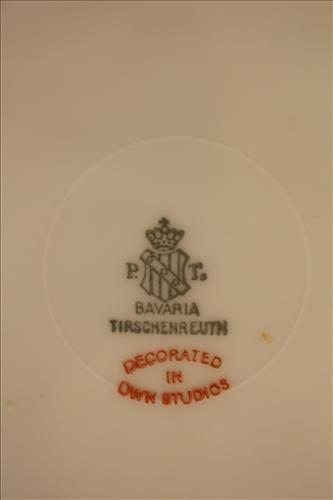 10 piece Bavaria dessert plates, hand painted - 3