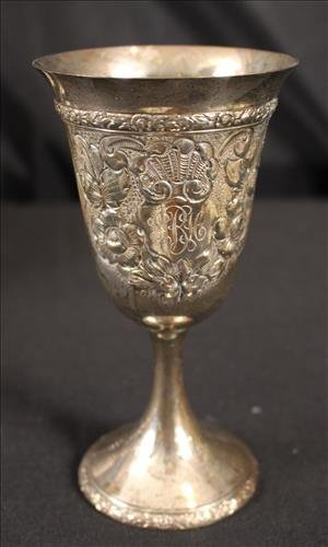 12 piece sterling silver goblets with monogram - 3