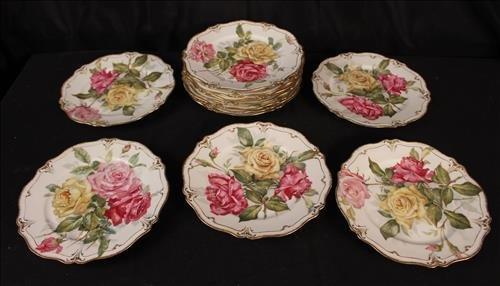 12 piece set G.D.A. France dessert plates