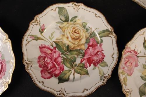 12 piece set G.D.A. France dessert plates - 2