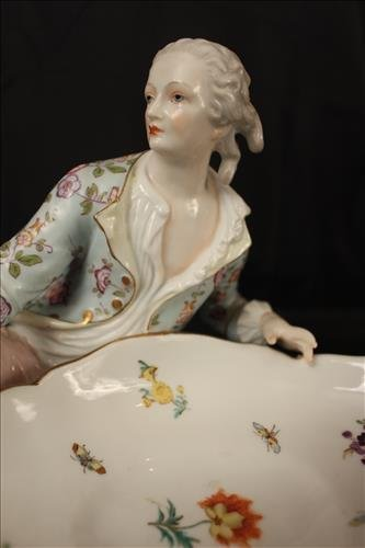 Pair porcelain sweetmeats, signed occupied Japan - 2
