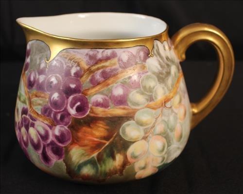 T.V. Limoges hand painted lemonade pitcher