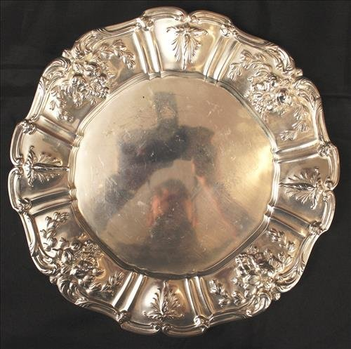 Francis 1st  sterling silver tray, 11 in dia.