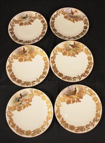Set of 6 Limoges Ovington Bros NY, NY plates