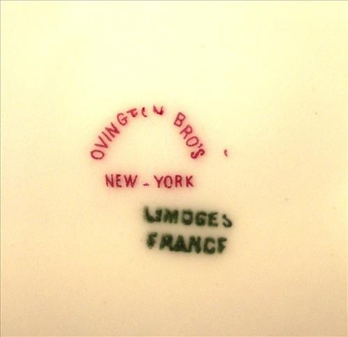 Set of 6 Limoges Ovington Bros NY, NY plates - 4