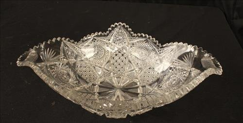 Brilliant cut glass bowl with very unusual form - 2