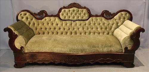 Exceptional period mahogany Empire parlor sofa