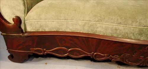 Exceptional period mahogany Empire parlor sofa - 2