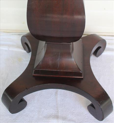 Solid mahogany Empire pedestal, 36 in. T, 16 in. Sq. - 2