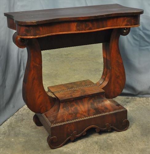 Empire Petticoat table, 39 in. T, 18 in. D, 35 in. W.