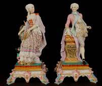 Pair Gille Paris porcelain statues of museum quality