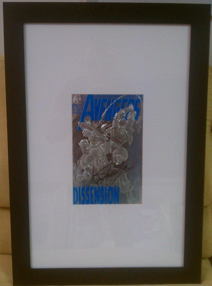 Stan Lee - signed, framed Avengers Comic