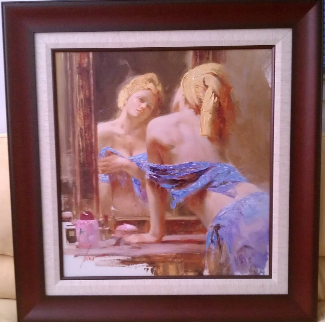 Pino Painting Artist Proof - Large HAND EMBELLISHED