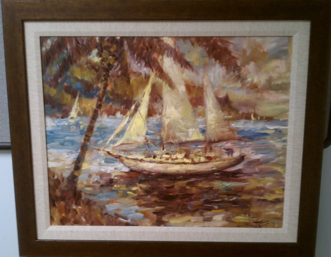 Jorn Fox Original Painting - framed