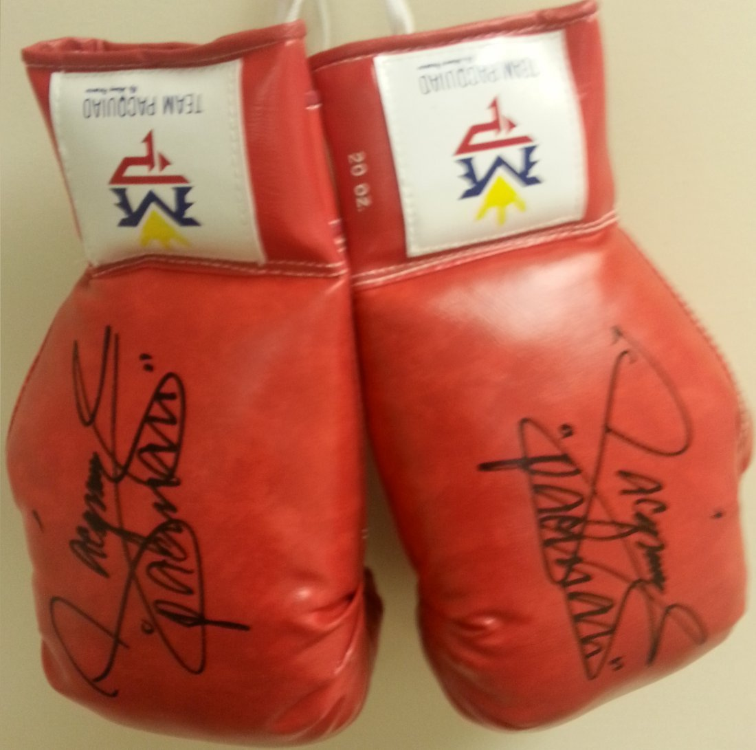 Manny Pacquiao signed Boxing Gloves