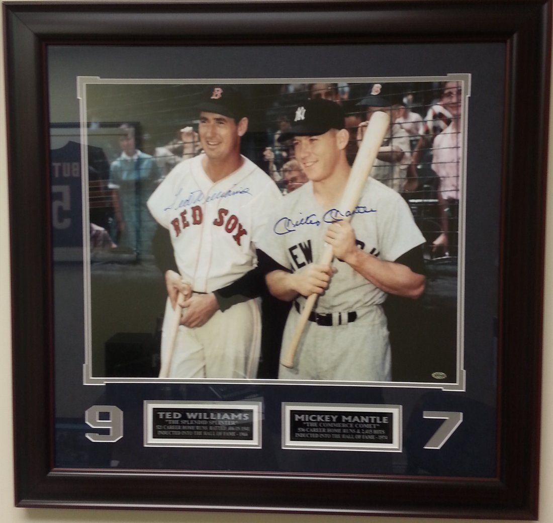 Mickey Mantle and Ted Williams signed photo