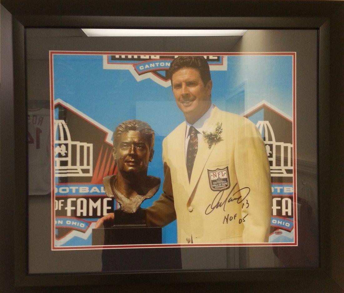 Dan Marino signed HOF photo framed