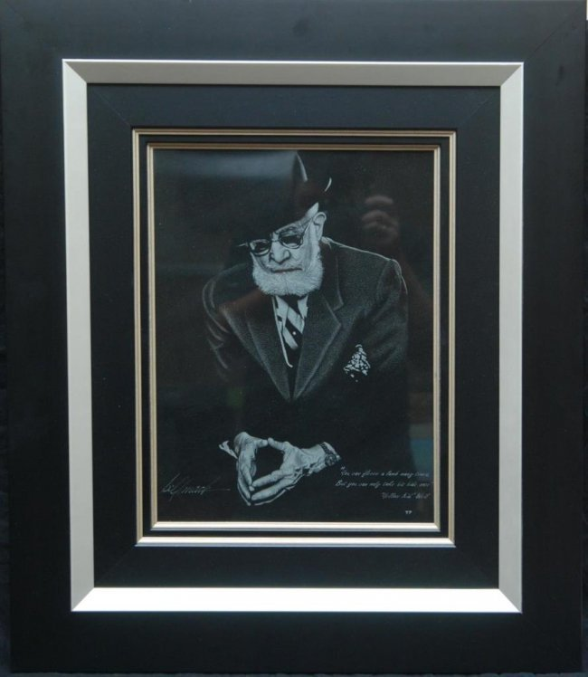 BILL MACK - etched one of a kind original stone plate