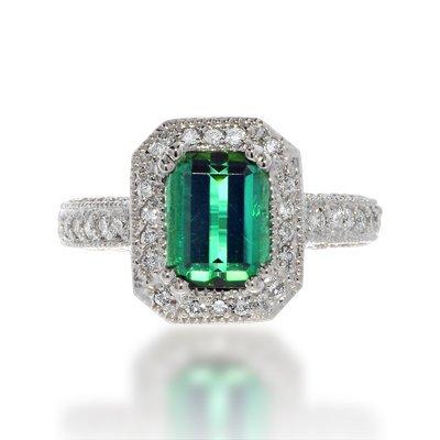 Charming Cushion Tourmaline Ring, 75% BELLOW