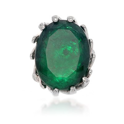Party Wear Huge Emerald Oval Ring., 75% BELLOW